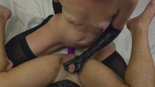 Girl Fucks Guy With A Strapon – My New Strapless Dildo ( Femdom, Pegging )