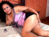 LatinChili Mature Sharon Masturbating Hairy Cunt