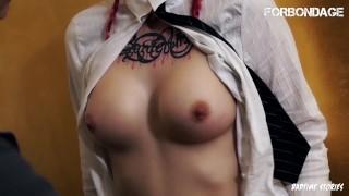 ForBondage – Rough Sado Maso Session For Hot Redhead German Teen